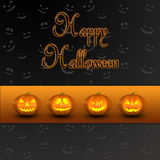 Jack-o-lanterne de potirons de Halloween Photos stock