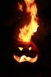 Jack-O-lanterne du feu Image stock