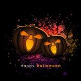 Jack-o-lanterne spaventose per Halloween felice Immagini Stock