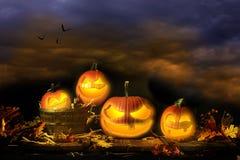 Jack-o-Lanternes de Veille de la toussaint Image libre de droits