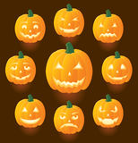 Jack O'Lanterns. For Halloween, illustration Royalty Free Stock Photo