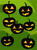 Jack o' lanterns Stock Photo