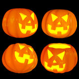 Jack-o'-lanterns 3d isolated Royalty Free Stock Photo