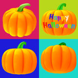 Jack-o'-lanterns 3d isolated. Hires Royalty Free Stock Photography
