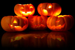 Jack-O-Lanterns stock photography