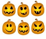 Jack-O-Lanterns Clip Art Stock Images