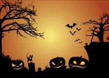 Jack O Lanterns & Halloween Background. Jack O Lanterns & HalloweenVector Background Royalty Free Stock Photos