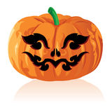 Jack O Lanterns & Halloween Background Royalty Free Stock Photography