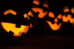 Jack-o-lanterns at Night Royalty Free Stock Photo