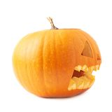 Jack-o'-lanterns orange pumpkin head isolated Royalty Free Stock Image
