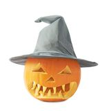 Jack-o'-lanterns pumpkin in a hat Royalty Free Stock Image