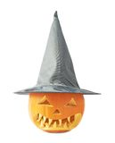 Jack-o'-lanterns pumpkin in a hat Stock Photography