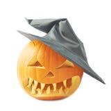 Jack-o'-lanterns pumpkin in a hat Stock Photos