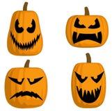 Jack O Lanterns (Scary). A set of 4 Jack O Lanterns (Scary Royalty Free Stock Photography