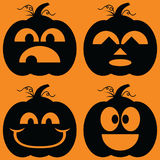 Jack o Lanterns Silhouettes Royalty Free Stock Photography