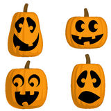 Jack O Lanterns (Silly). A set of 4 Jack O Lanterns (Silly stock illustration