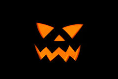 Jack& x27; O-Laterne, Halloween-Wassermelonendetail in der furchtsamen Nacht Lizenzfreies Stockfoto