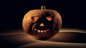Jack-o-linterna decorativa iluminada Concepto de la celebración de Halloween metrajes