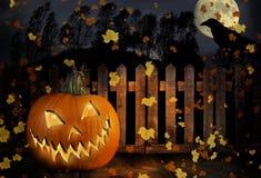 Jack-O-linterna del feliz Halloween Foto de archivo libre de regalías