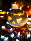 Jack-o-linternas fantasmagóricas de Halloween Imagenes de archivo