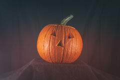 Jack O' Lantern No Mouth Stock Photo