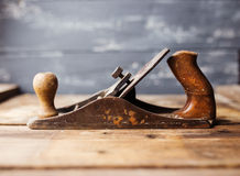 Jack-plane on wooden table Royalty Free Stock Image