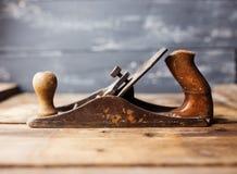 Jack-plano na tabela de madeira Imagem de Stock Royalty Free