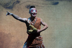 Jack-Pudding-akrobatische showBaixi Traum-Nacht Stockfotografie