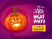 Jack pumpkin night party invitation Stock Photography