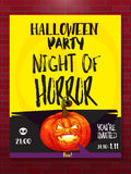 Jack pumpkin party poster Royalty Free Stock Images