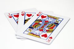 Jack Queen King. Jack, queen and king of hearts Royalty Free Stock Photography