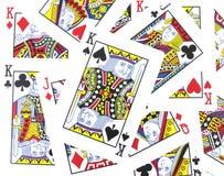 Jack, rainha, cartões do rei jogo Imagem de Stock Royalty Free