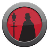 Jack The Ripper Icon. A Jack the ripper icon in red isolated on a white background Royalty Free Stock Image