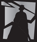 Jack the Ripper Shadow In Mirror Stock Photography