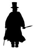 Jack the Ripper Silhouette Royalty Free Stock Photos