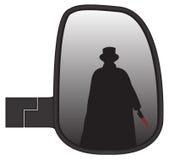 Jack The Ripper In Truck-Seiten-Spiegel Lizenzfreie Stockbilder