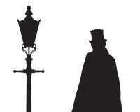 Jack The Ripper- und Straßenlaterne Lizenzfreies Stockfoto