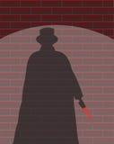 Jack The Ripper Wall Spotlight-Schatten Lizenzfreie Stockbilder