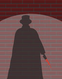 Jack The Ripper Wall Spotlight Shadow Royalty Free Stock Images