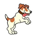 Jack russell dog character standing on hind legs royalty free illustration