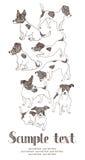 Jack Russell Terrier karta ilustracji