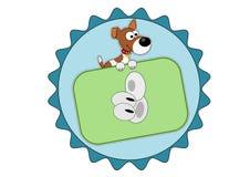 Jack Russell Terrier mit dem Daumen herauf Ikone Stockbild