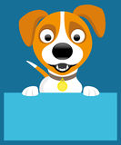 Jack russell terrier. Vector illustration for your text. Jack russell terrier Royalty Free Stock Photos