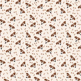 Jack Russell Terrier Vector Seamless pattern. Dog, bone, paw print. Royalty Free Stock Photography