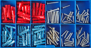 Jack screws in toolbox Royalty Free Stock Photography