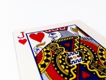 Jack serc karta z Białym tłem Obrazy Royalty Free