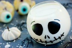 Jack Skeleton jelly for Halloween kids dessert, fun idea for chi Stock Image