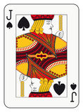 Jack of spades. Playing card Stock Image