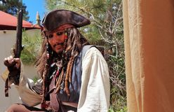 Jack Sparrow παρόμοιος στοκ εικόνα