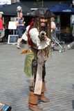 Jack Sparrow impersonator. GHENT, BELGIUM, 25 JULY 2014:Brazilian Jack Sparrow impersonator at the festival of Ghent Royalty Free Stock Image